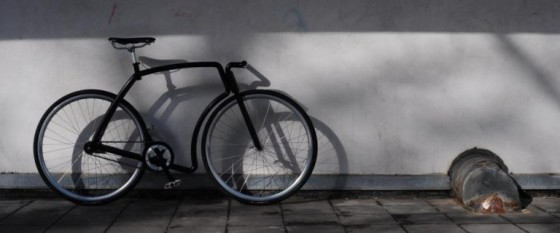 The Viks is made from two tubular frames joined at the head tube, seat tube and bottom bracket