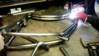 A Viks frame being welded together