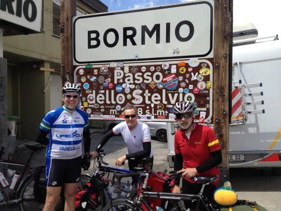 2012 Atop Stelvio with Michael and Chris